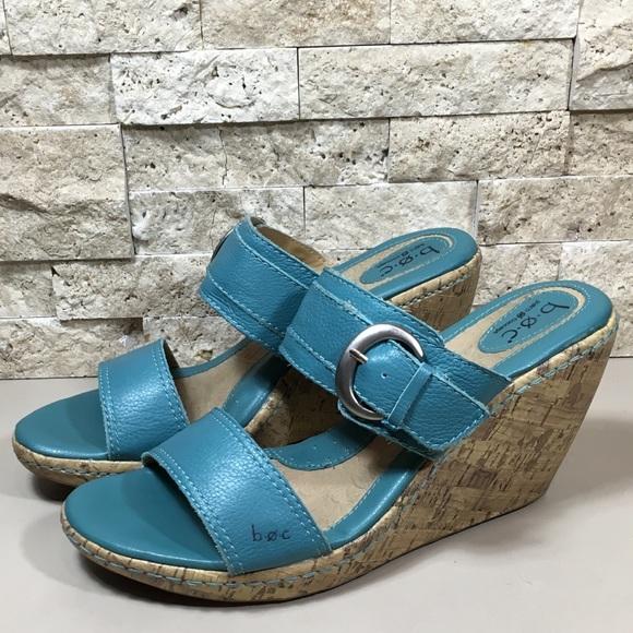 fd384c074267 Born turquoise wedge sandals